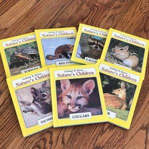 Set of animal books